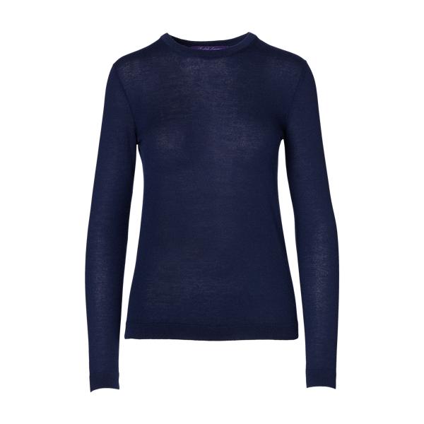 Ralph Lauren Cashmere Crewneck Sweater Navy L