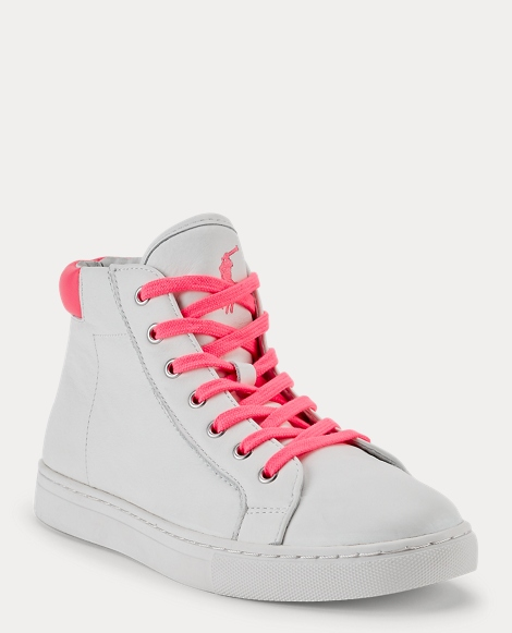 Pink Pony Leather Sneaker
