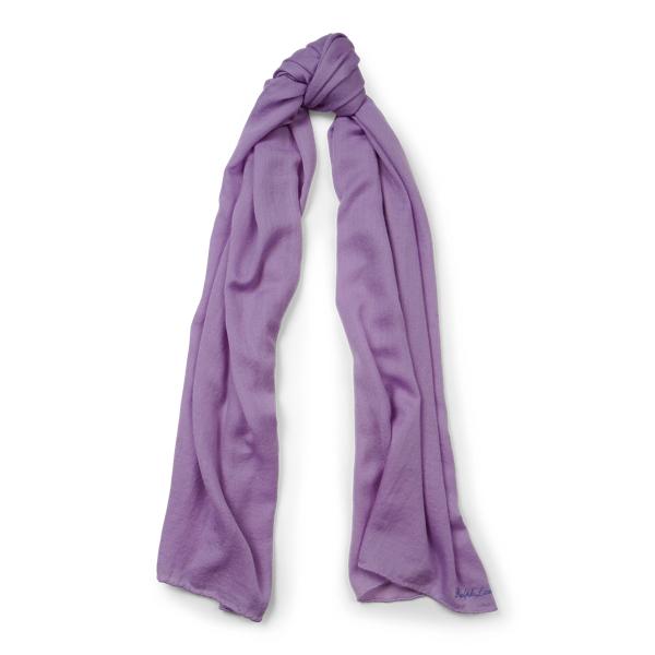 Ralph Lauren Cash Sf-Oblong Scarf-Cashmere Lavender One Size