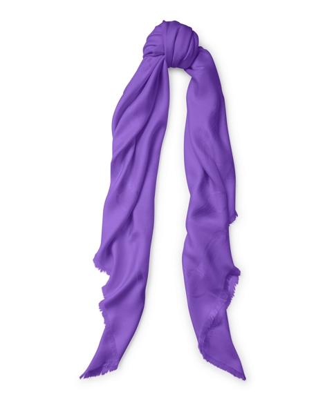 Equestrian Silk-Wool Scarf