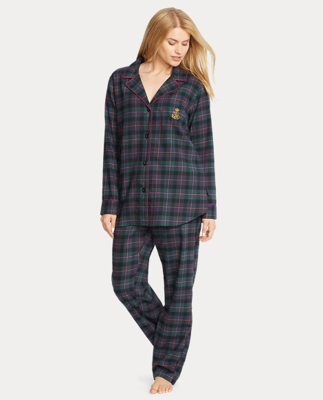 Plaid Flannel Pajama Set