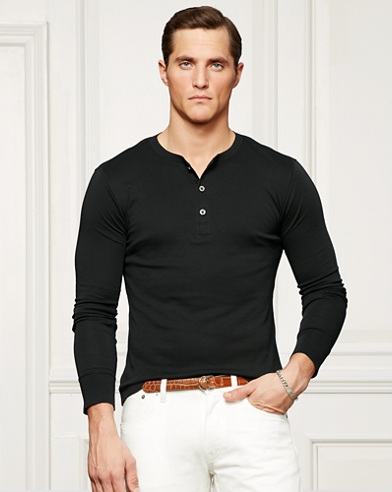 Cotton Interlock Henley Shirt