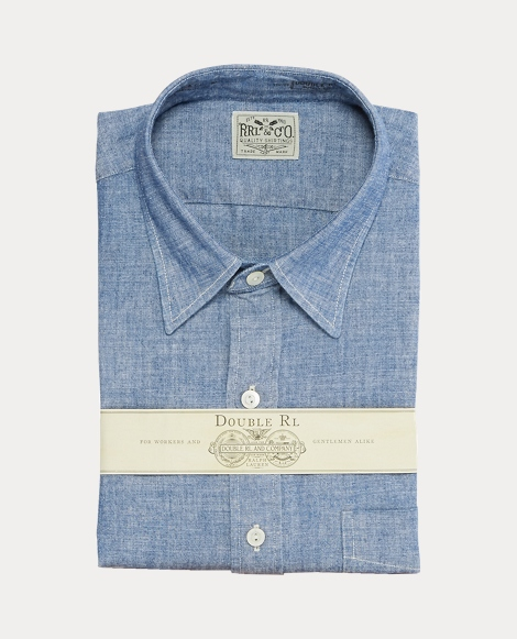 Slim Fit Cotton Chambray Shirt