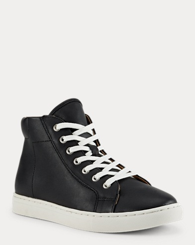 Nappa Leather High-Top Sneaker