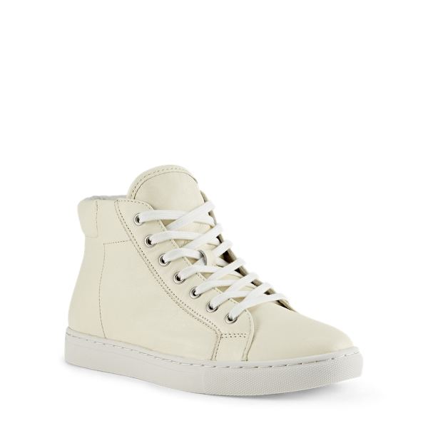 Ralph Lauren Dree Nappa High-Top Sneaker Cream 9
