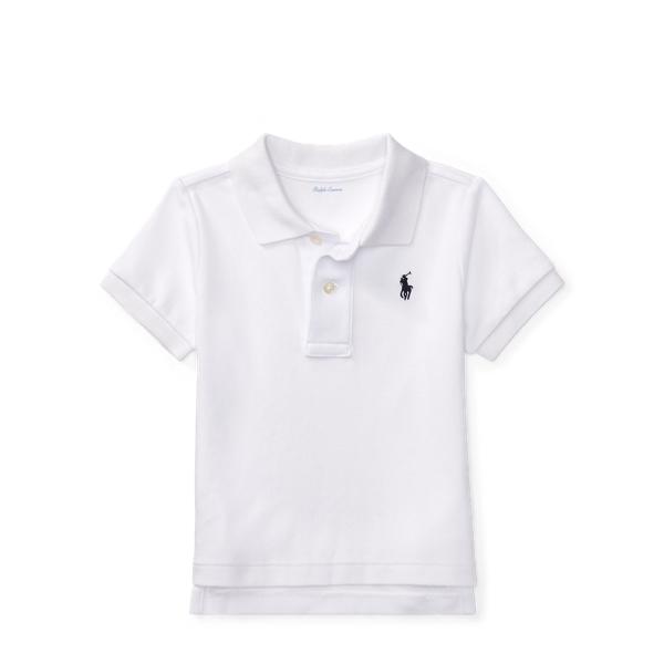 Ralph Lauren Cotton Interlock Polo Shirt White 24M