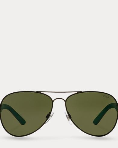 Contrast Aviator Sunglasses