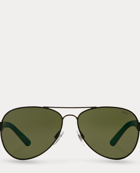 Contrast Aviator Sunglasses