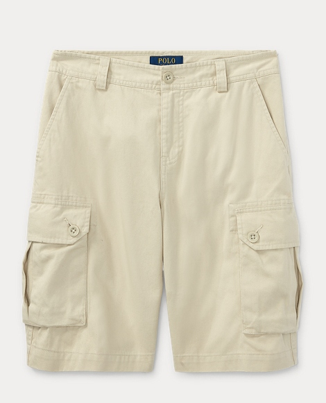 Cotton Twill Cargo Short