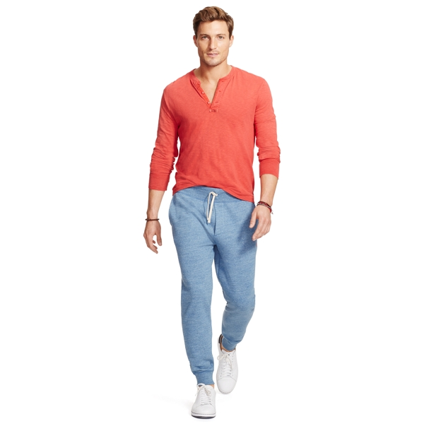 Ralph Lauren Cotton-Blend-Fleece Pant Delta Blue Heather L