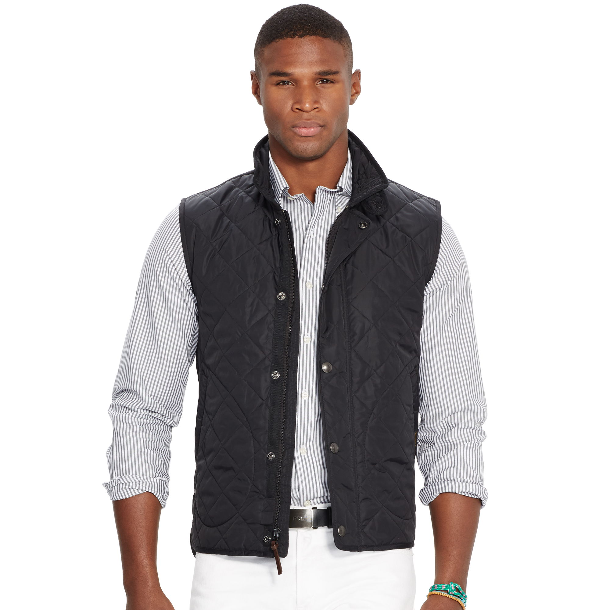 quilted vest in aviator gallery polo ralph navy normal men jacket for blue product mens diamond quilt lauren lyst clothing