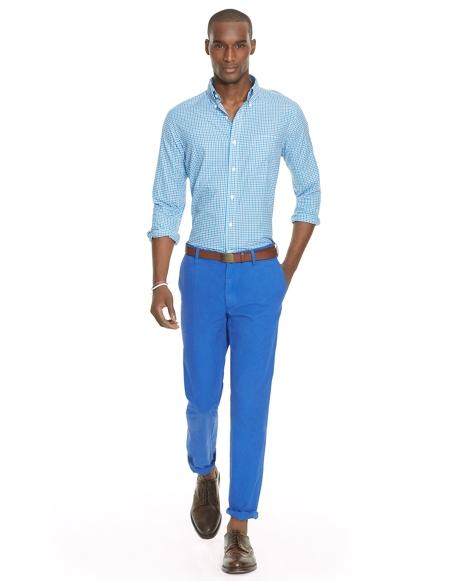 Slim Fit Cotton Twill Pant