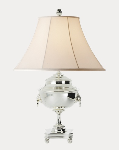 Samovar Polished Silver Lamp