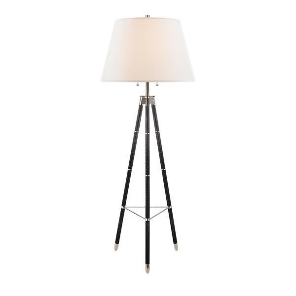 Ralph Lauren Irwin Tripod Floor Lamp Ebony One Size