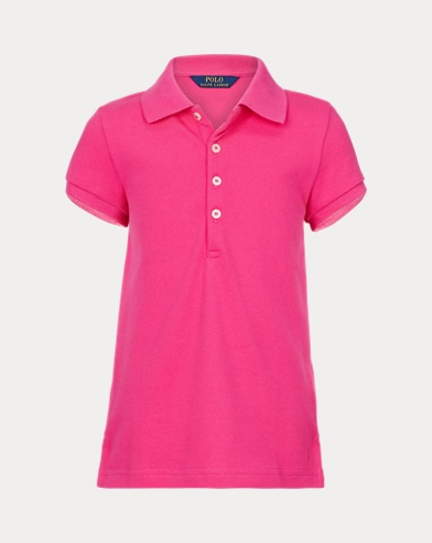 Girls' Mesh Polo Shirt