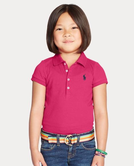 Girls' Mesh Polo Shirt