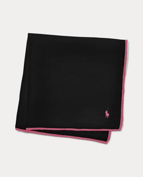 Pink Pony Linen Pocket Square