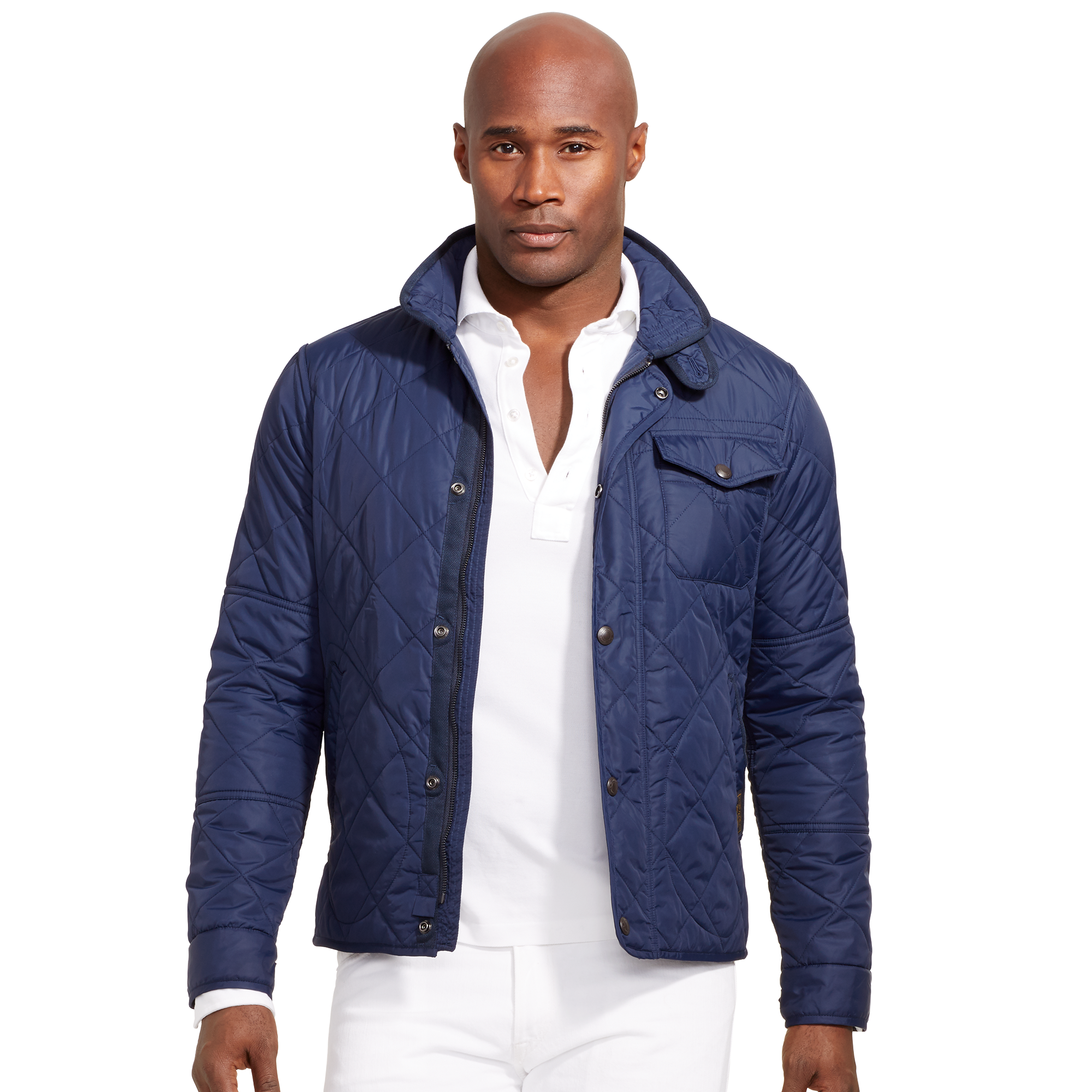 aviator navy diamond in mens clothing men polo lauren blue ralph vest product lyst jacket gallery quilt for normal quilted