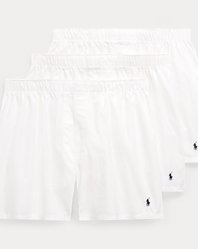 Solid Woven Boxer 3-Pack