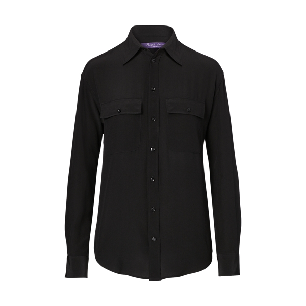 Ralph Lauren Antoinette Silk Shirt Black 2