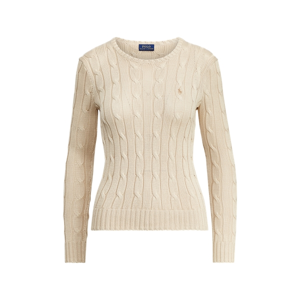 Ralph Lauren Cable-Knit Crewneck Sweater Natural M
