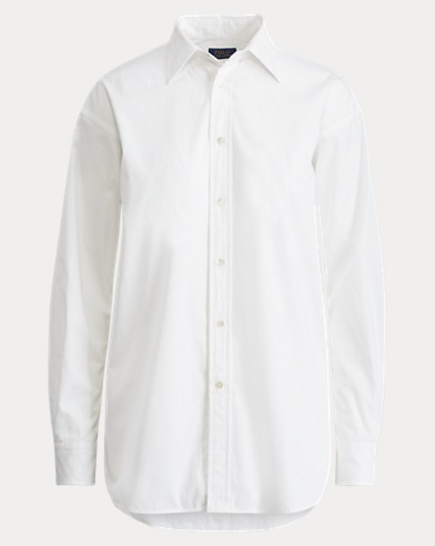 High-Low Hem Poplin Shirt