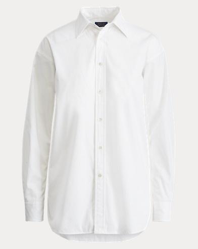 High-Low Hem Poplin Shirt