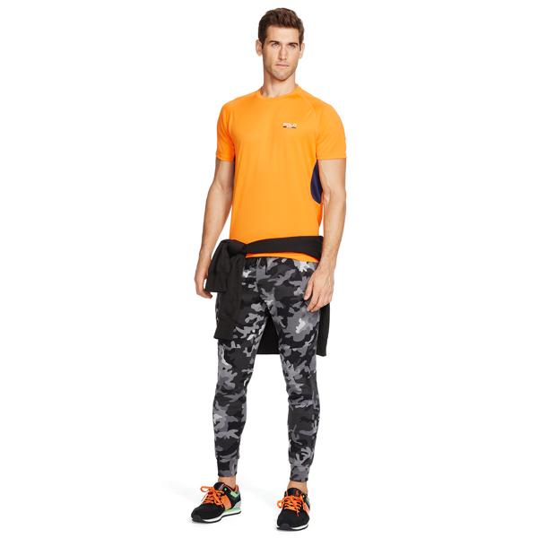 Ralph Lauren Big & Tall Micro-Dot T-Shirt Blaze Rig Orange 2X Big