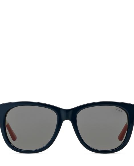 Striped Square Sunglasses