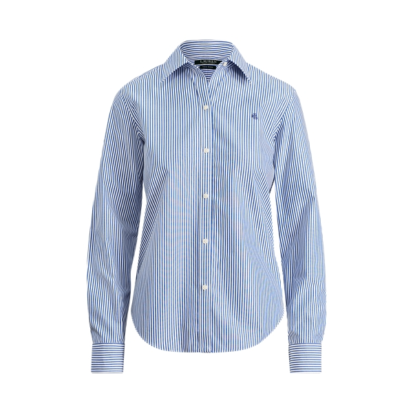 Ralph Lauren Cotton Button-Down Shirt Blue/White L