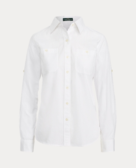 Rolled-Cuff Cotton Shirt