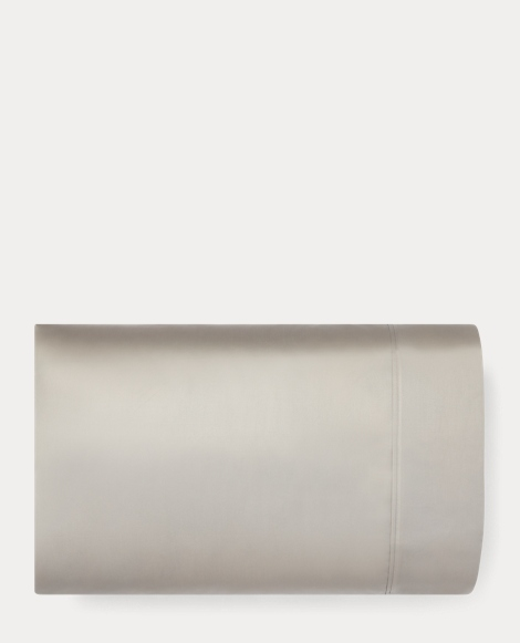 Grey Sateen Bedford Pillowcase