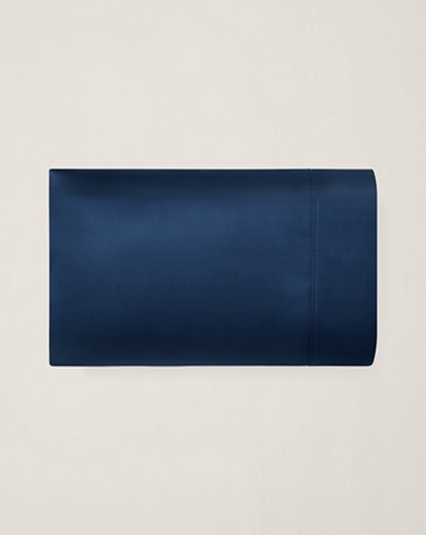 Navy Sateen Bedford Pillowcase