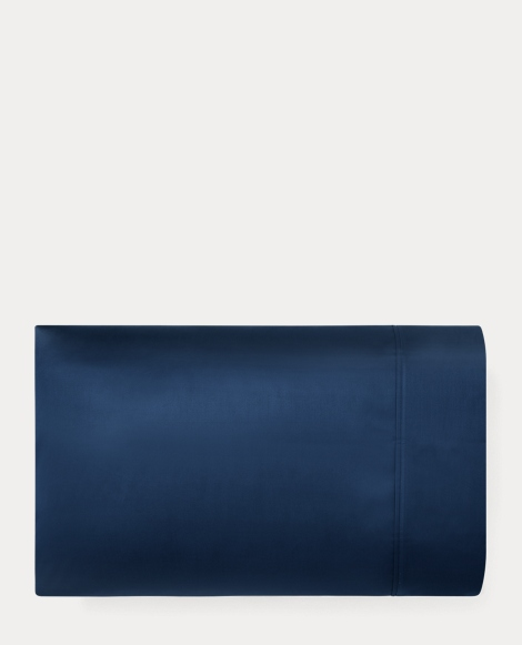 Navy Sateen Bedford Pillowcase