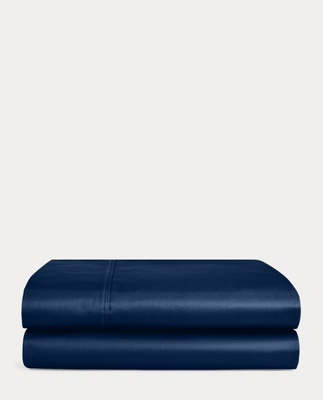 Navy Bedford Sateen Sheeting