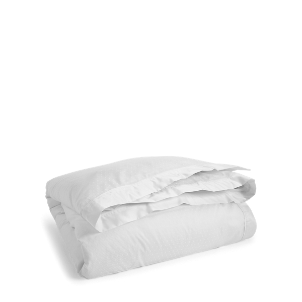 Ralph Lauren Bedford Jacquard Duvet Cover Classic White King