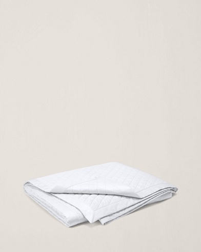 White Bedford Quilted Coverlet