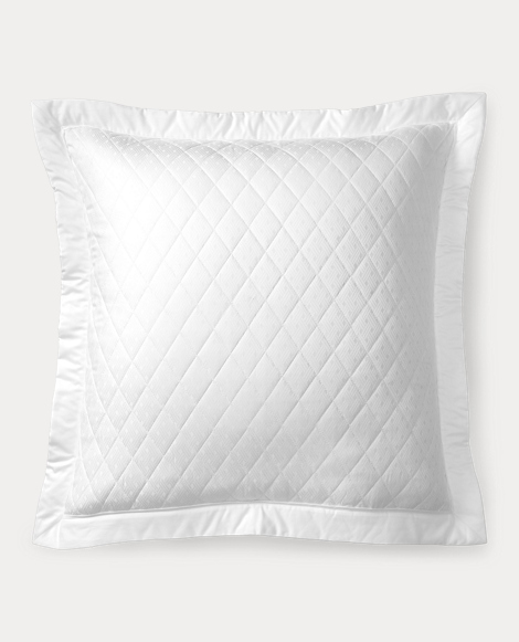 White Bedford Quilted Sham