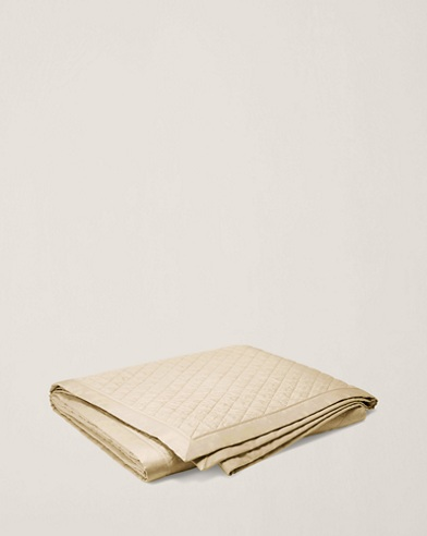 Cream Bedford Quilted Coverlet