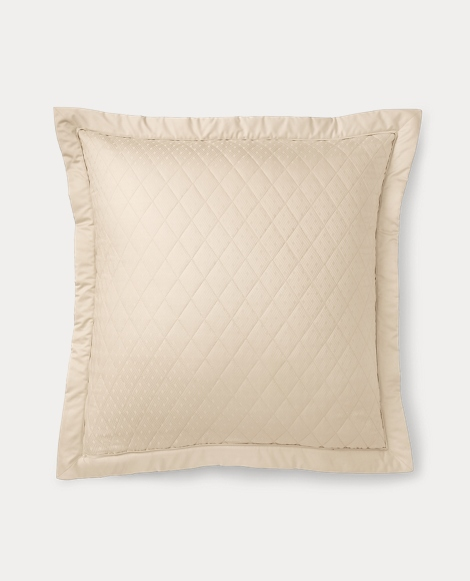 Cream Quilted Bedford Sham