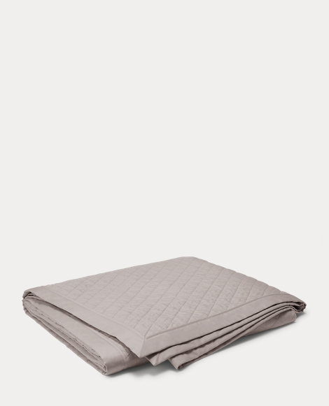 Grey Bedford Quilted Coverlet