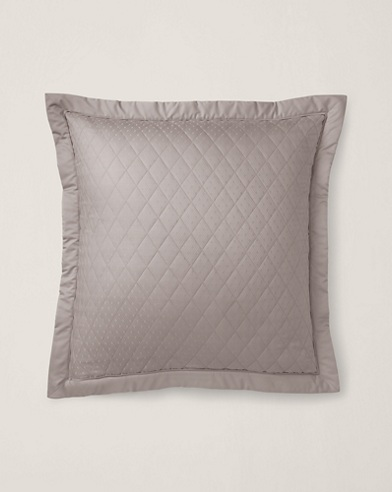 Grey Bedford Quilted Sham