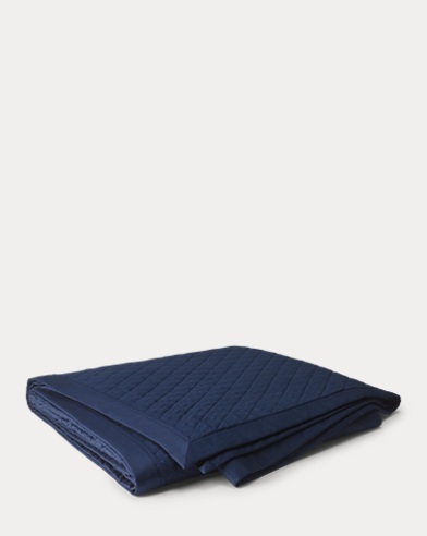 Navy Bedford Quilted Coverlet