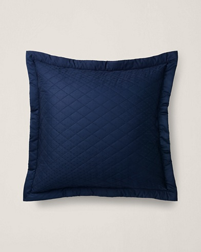 Navy Bedford Quilted Sham