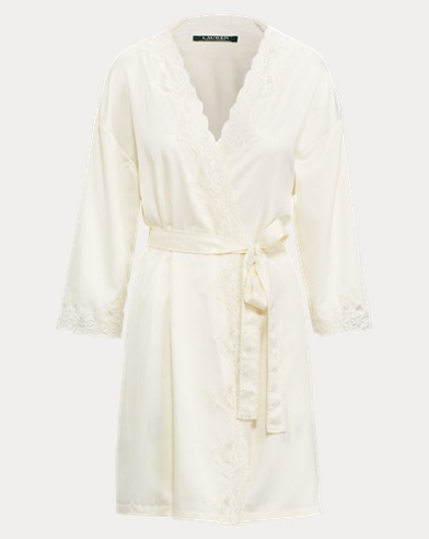 Lace-Trimmed Robe