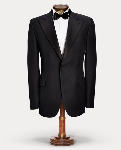 Wool Satin Tuxedo Jacket