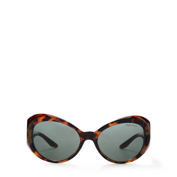 Ralph Lauren Oversized Butterfly Sunglasses Black/Havana One Size