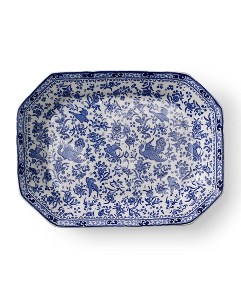 Regal Peacock Rectangular Dish