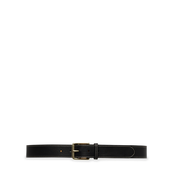Ralph Lauren Pebbled Leather Belt Black M