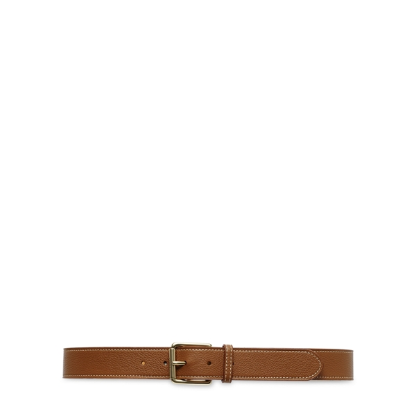 Ralph Lauren Pebbled Leather Belt Cuoio S